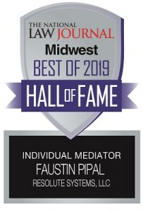 2019 New York Law Journal Hall of Fame Faustin Pipal award